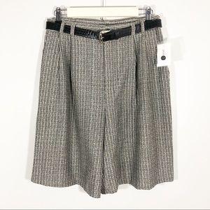 Vintage High Rise Belted Mom Shorts Deadstock